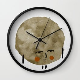 Comtemplative blob Wall Clock