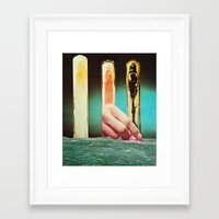chemistry Framed Art Prints featuring Chemistry O by flores