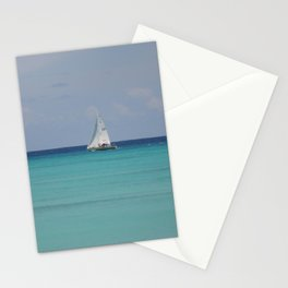White sails Stationery Cards