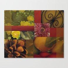 Flowers & Fruit Canvas Print