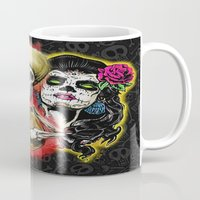 dia de los muertos Mugs featuring Dia de Los Muertos by Kevin Rogerson