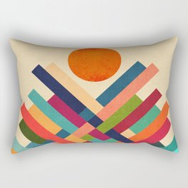 Sun Shrine Rectangular Pillow
