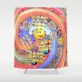 Emoji Emoticons Shower Curtain