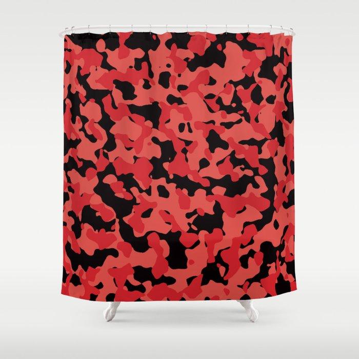 Grenadine Camouflage Shower Curtain