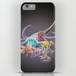 Rainbow Dinosaurs iPhone Case
