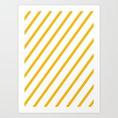 Yellow summer stripes Art Print
