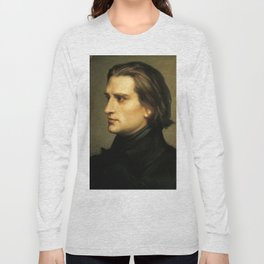 Franz Liszt (1811-1886) at 29. Painting by Charles Laurent Marechal (1801-1887). Long Sleeve T-shirt