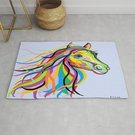 Horse of a Different Color Rug