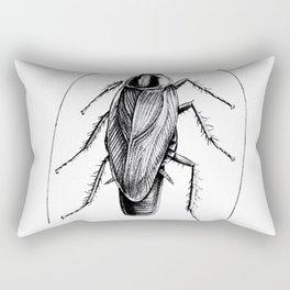 Cockroach Pen Art Drawing Rectangular Pillow