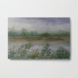 Misty Morning WC160216f Metal Print