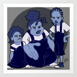 The Gross Sisters Art Print