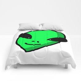 Alien Face | Veronica Nagorny Comforters