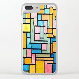 Piet Mondrian Tableau III Clear iPhone Case