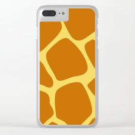 Animal Print Pattern – Giraffe 1 Clear iPhone Case