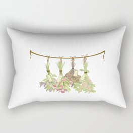 Original Herbs in Pastel Color Rectangular Pillow