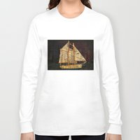 sailboat Long Sleeve T-shirts featuring Rustic Sailboat by Michael P. Moriarty