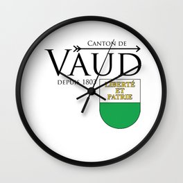 Canton of Vaud Wall Clock