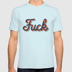 Fuck Light Blue Mens Fitted Tee LARGE