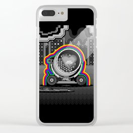 Two Light My Hearts Clear iPhone Case
