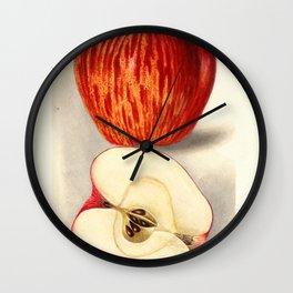 Vintage Illustration of a Sliced Apple Wall Clock