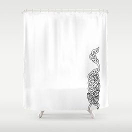 flowers in weaves Shower Curtain