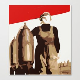 POWER TO THE MASSES  Canvas Print