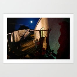 Full moon and lurking shadows Art Print