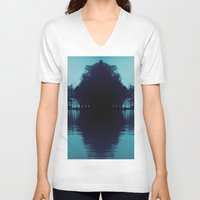 finland V-neck T-shirts featuring Finland Mysteries by Onaaa