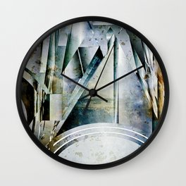The Bars Within Abstract Metal Seascape Wall Clock