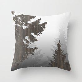 Norway Black Throw Pillow