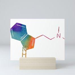 Watercolor DMT Molecule III Mini Art Print