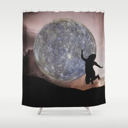 DANCING WITH THE MOON Shower Curtain