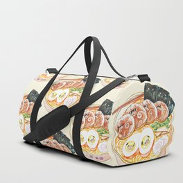 Ramen Pugs Watercolor Duffle Bag
