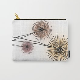 Coral pink Dandelion Carry-All Pouch