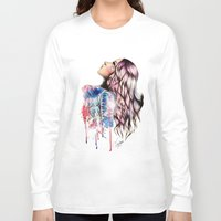 vogue Long Sleeve T-shirts featuring Teen Vogue by Tiko Meow
