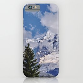 Misty Mountains. Jungfrau. 4.158 Meters. Alps. Swithzerland iPhone Case