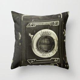 1949 Century Graphic Camera Throw Pillow