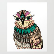A Lovely Owl Art Print