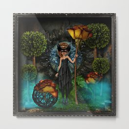 Guardian in the Forest Metal Print