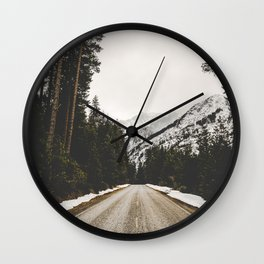 Great Mountain Roads - Nature Photography Wall Clock