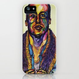 Macklemore Watercolor Portrait iPhone Case