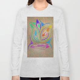 Colorful Lotus flower - uma releitura Long Sleeve T-shirt