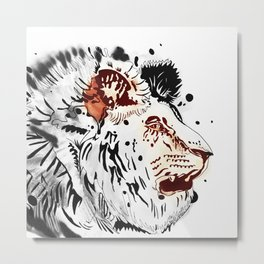 Thirsty as a Lion Metal Print