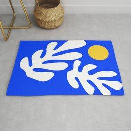 Henri Matisse - Leaves - Deep Blue Rug