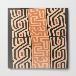 African Tribal Pattern No. 15 Metal Print
