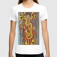 gustav klimt T-shirts featuring Hygeia - An Ode to Klimt  by LadyJennD