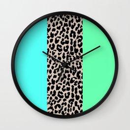 Leopard National Flag XIV Wall Clock