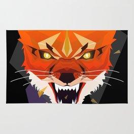 Ferocious Geometric Fox Rug