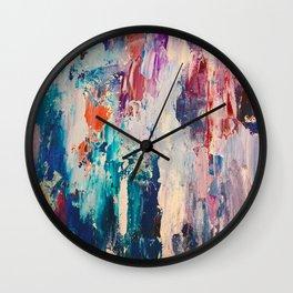 Dusk (paint strokes0 Wall Clock
