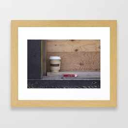 Cigarettes and coffee Framed Art Print
